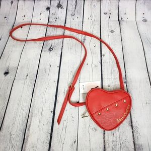 JUICY COUTURE Heart Shaped Crossbody Purse Red